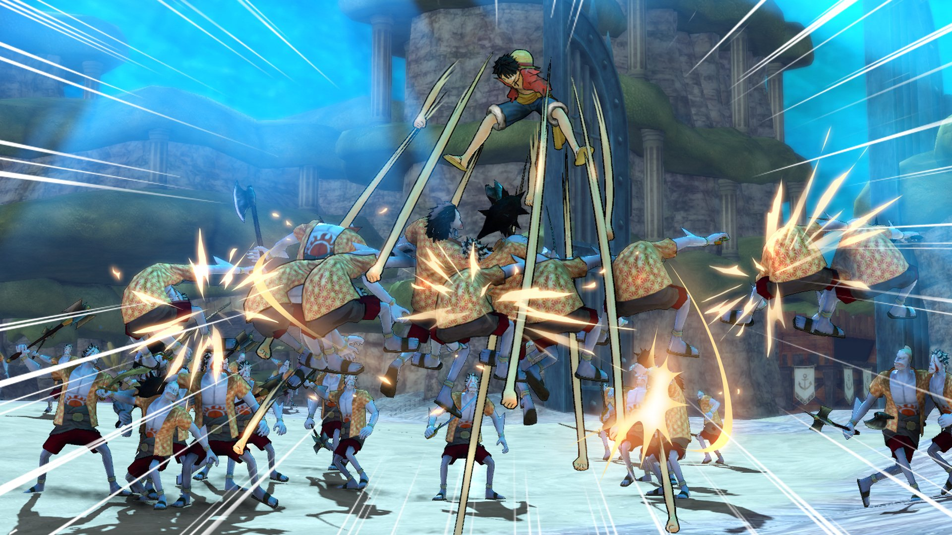 One piece pirate warriors 3 pc full espa ol mega for One piece juego