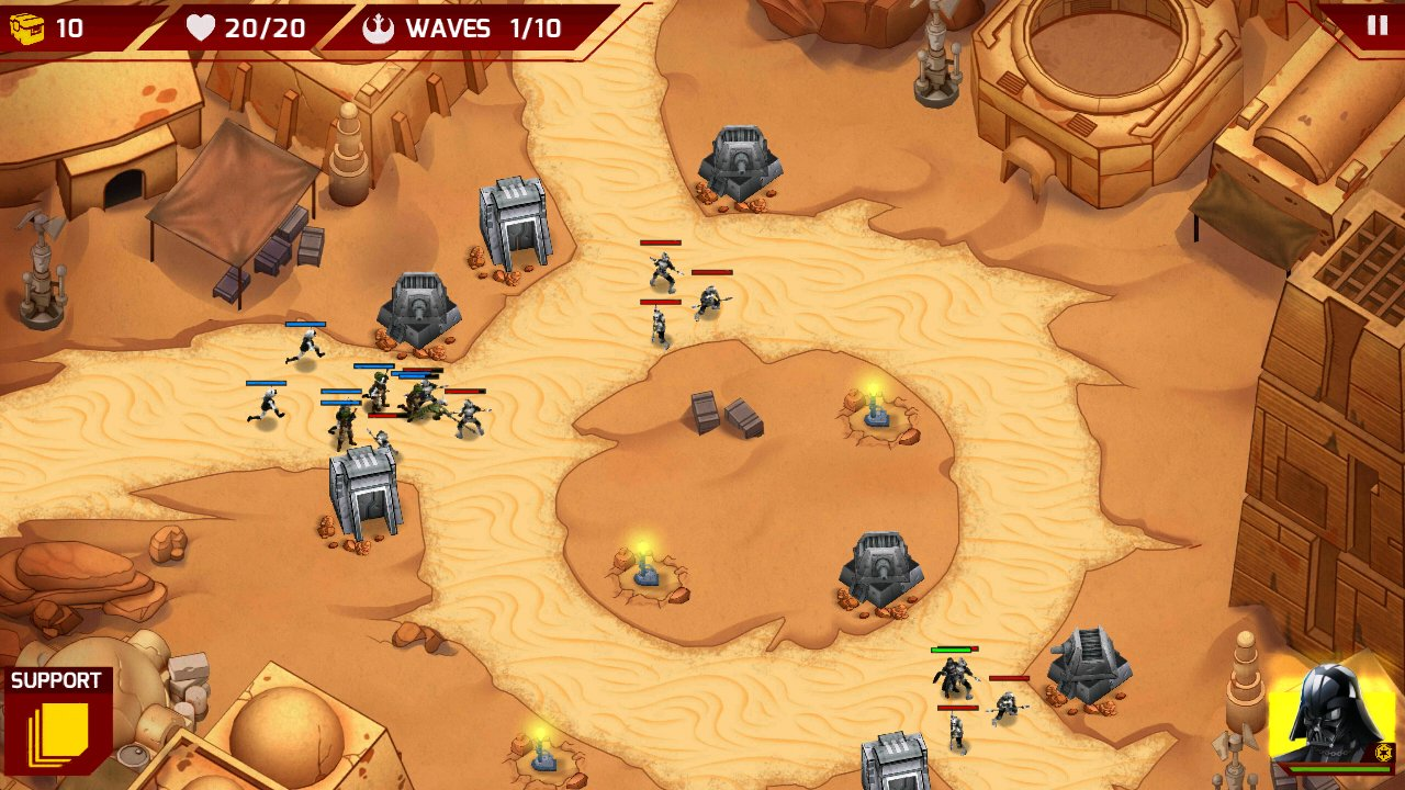 Star Wars Galactic Defense: tower defense with Star Wars ...