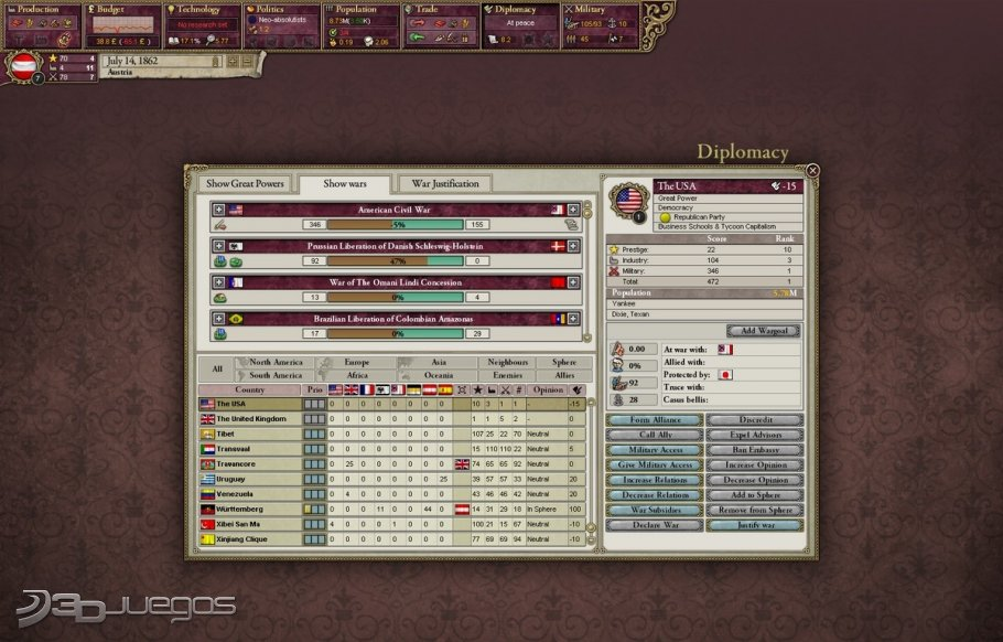 Imagen Victoria II - A House Divided (PC)