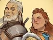 Aloy y Geralt de Rivia ¡otra vez juntos! en un dibujo de Guerrilla