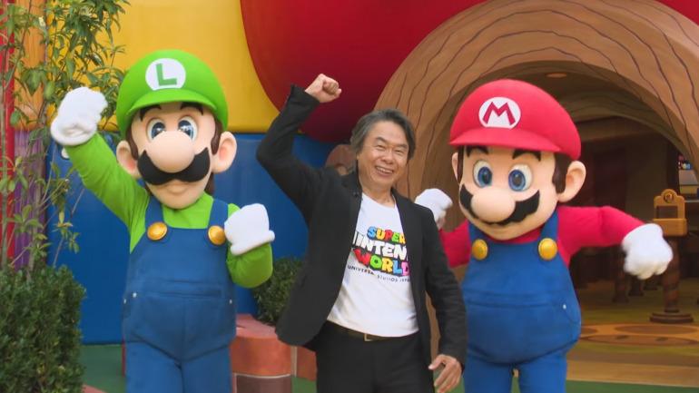 Shigeru Miyamoto en la presentación del parque (diciembre de 2020)