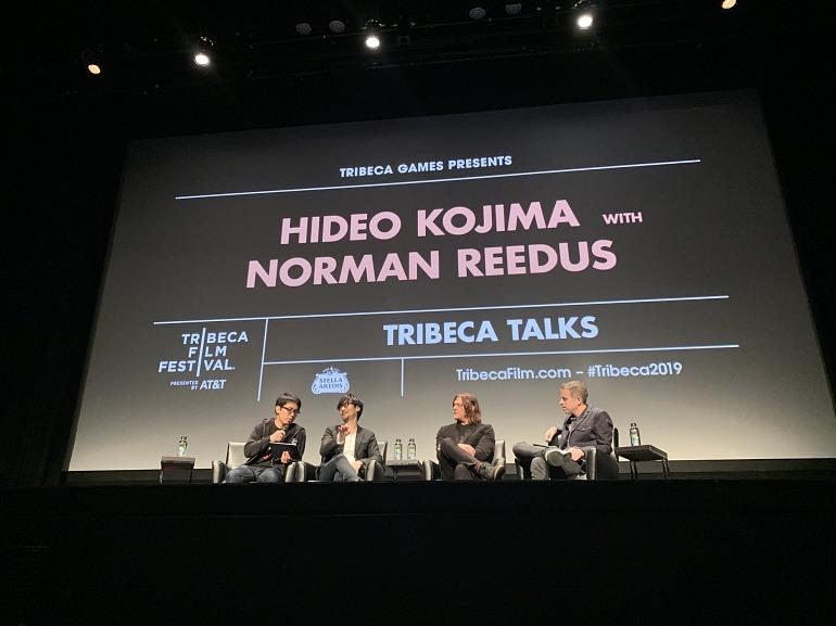 Hideo Kojima y Norman Reedus en el Tribeca Film Festival de Nueva York.