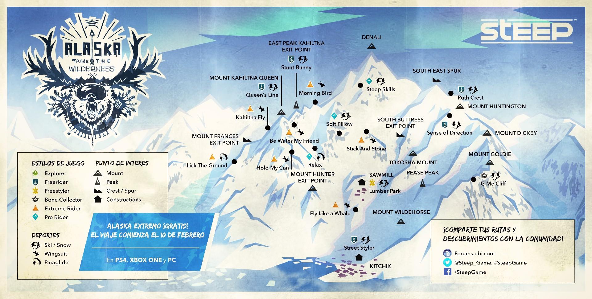 Steep sumará un nuevo mapa el 10 de febrero: Alaska