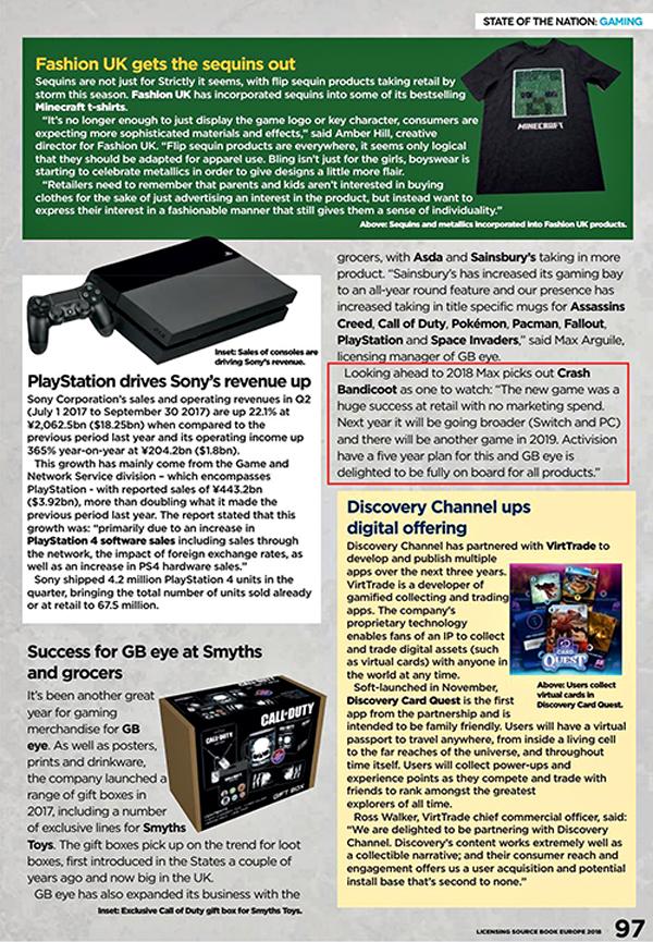 Activision planea cinco años de nuevos juegos de Crash Bandicoot