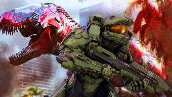 Construyen el Dino Megazord de los Power Rangers con Halo 5