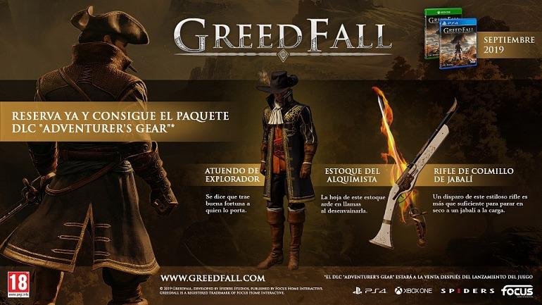 Incentivos de reserva de GreedFall.