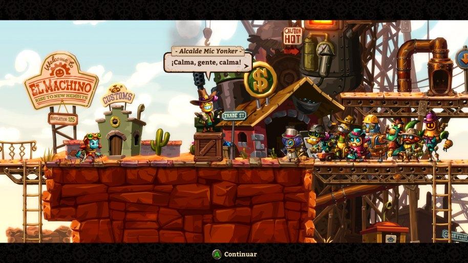 SteamWorld Dig 2 Vita