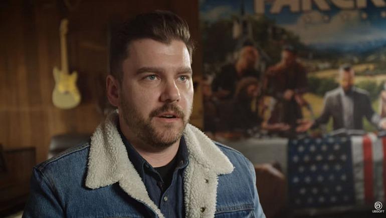 Drew Holmes, escritor en jefe de Far Cry 5.