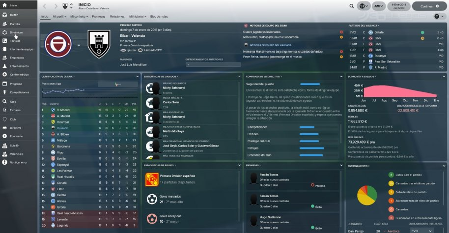 Football Manager 2018 análisis