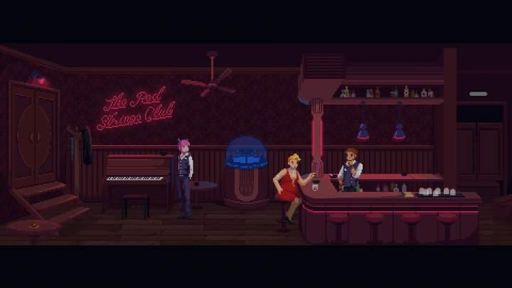 The Red Strings Club - Pantalla