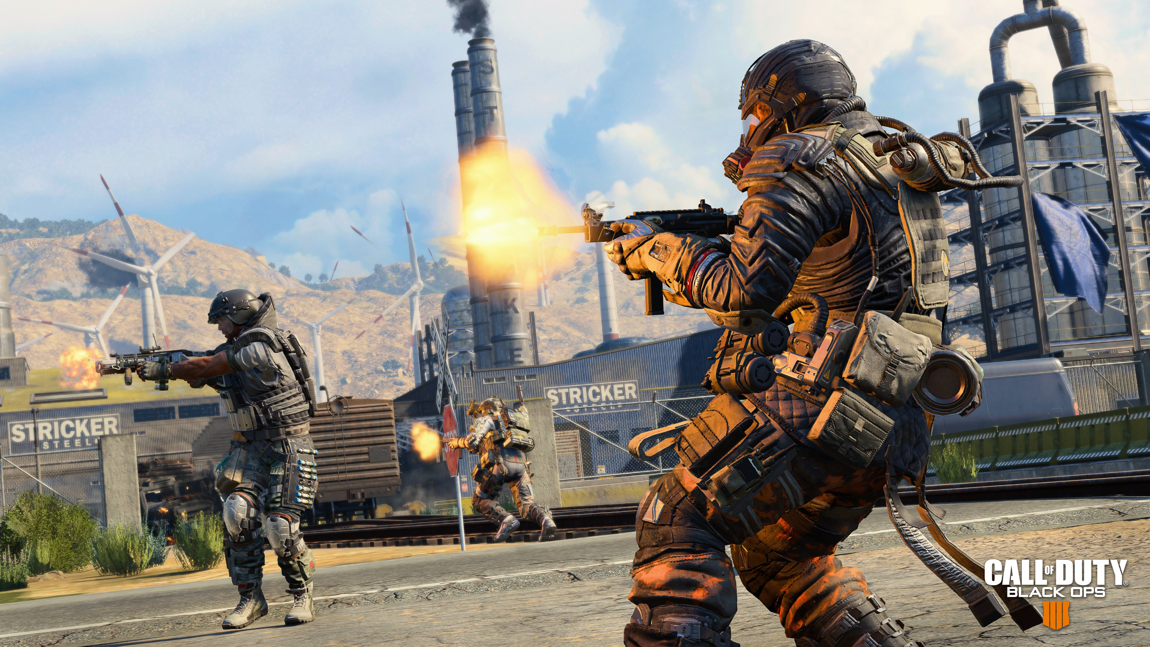 Call of duty: black ops 4 blackout is the best battle royal and first person shooter video game available. You can play this game individually.