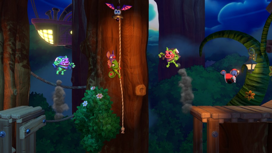 Yooka-Laylee and the Impossible Lair: Yooka Layle and the Impossible Lair, plataformas 2D que recuerdan a los clásicos Donkey Kong Country