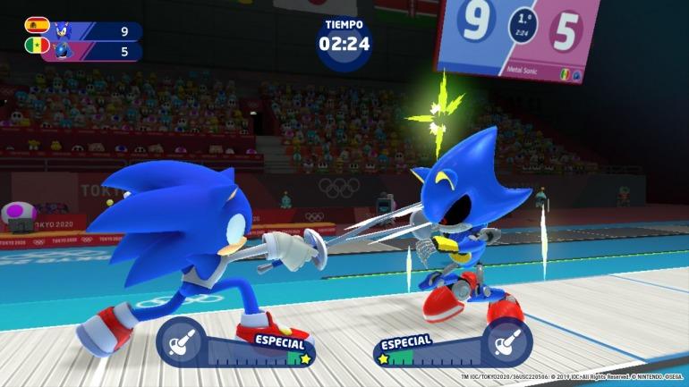 Imagen de Mario y Sonic en los Juegos Olímpicos de Tokio 2020