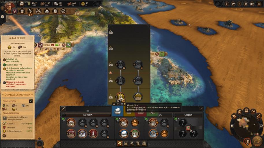 A Total War Saga Troy: Todas las novedades del mapa estratégico de A Total War Saga: Troy, con dioses, héroes y mitos