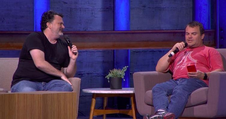 Tim Schafer y Jack Black (E3 Coliseum 2017)