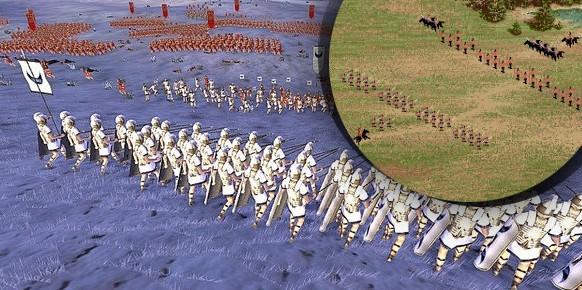 Se detecta cierto parecido, ¿no? Debemos considerar a los creadores de Centurion: Defender of Rome como unos verdaderos visionarios, puesto que elaboraron la fórmula Total War a comienzos de los 90.