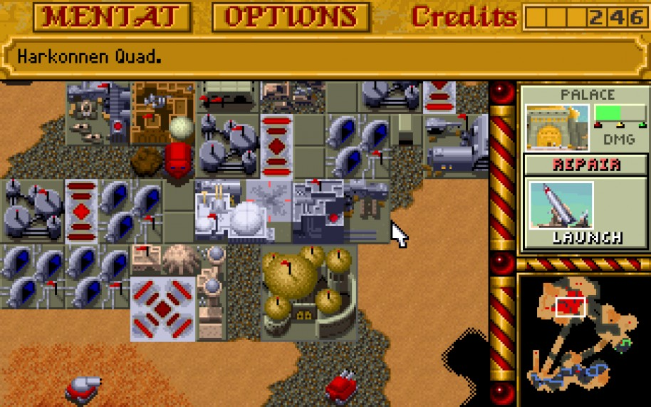 La popularidad de Dune II llevó a Westwood a adaptar el juego a plataformas como Amiga o Mega Drive / Genesis. Esta última versión contaba con una interfaz propia y algunas particularidades que luego se usaron en C&C.