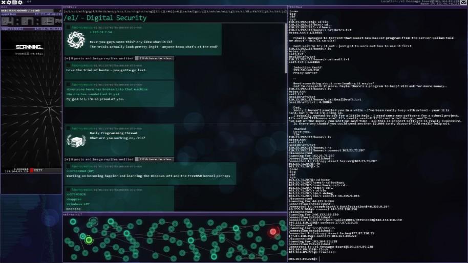 A menudo los videojuegos de hackeo tienen interfaces muy, muy parecidos. Así lo demuestran títulos como Uplink o Hacknet.