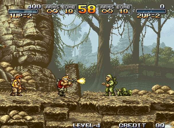 El icónico inicio de Metal Slug. Mission 1, Start! Aquí comenzó la gran trilogía de NAZCA y SNK.