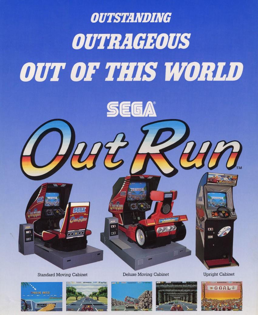 Out Run contó con tres muebles diferentes. Su modelo Deluxe acompañaba con movimiento el control del jugador.