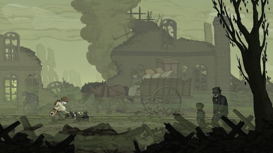 Actualmente, tenemos varios ejemplos de videojuegos antiguerra. DEFCON (imagen de arriba) es uno de ellos. El emocionante Valiant Hearts de Ubisoft Montpellier es otro exponente de interés.