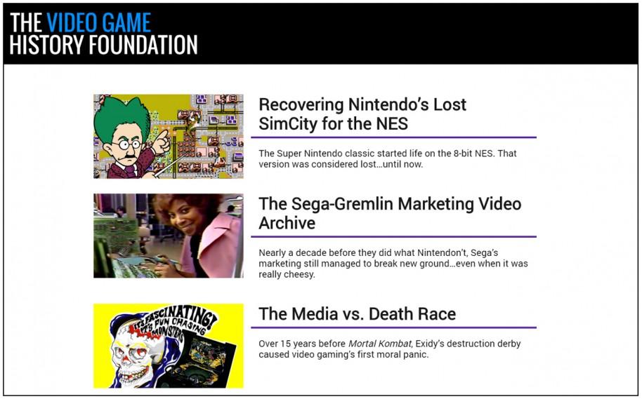 The Video Game History Foundation vela por el legado en Estados Unidos. Es difícil encontrar un homónimo español o latinoamericano.