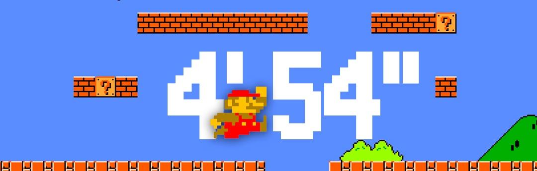 4 minutos y 54 segundos: en busca de la partida perfecta de Super Mario Bros.
