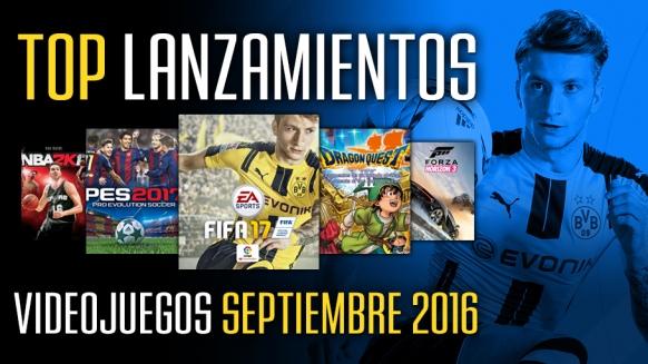 Reportaje de Top Lanzamientos: Septiembre 2016