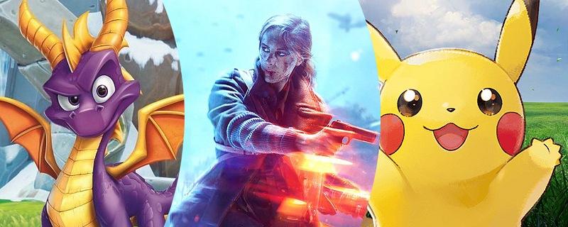 Spyro, Battlefield V y Pokémon Let's Go entre Lo Mejor del Mes