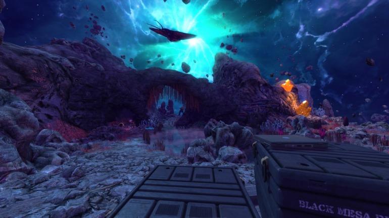 La dimensión Xen es uno de los escenarios que más crece y cambia con respecto al juego original.