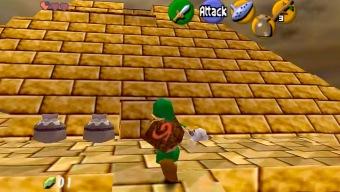 Un escenario de Super Mario 64 se transforma en una mazmorra de Zelda Ocarina of Time gracias a un mod