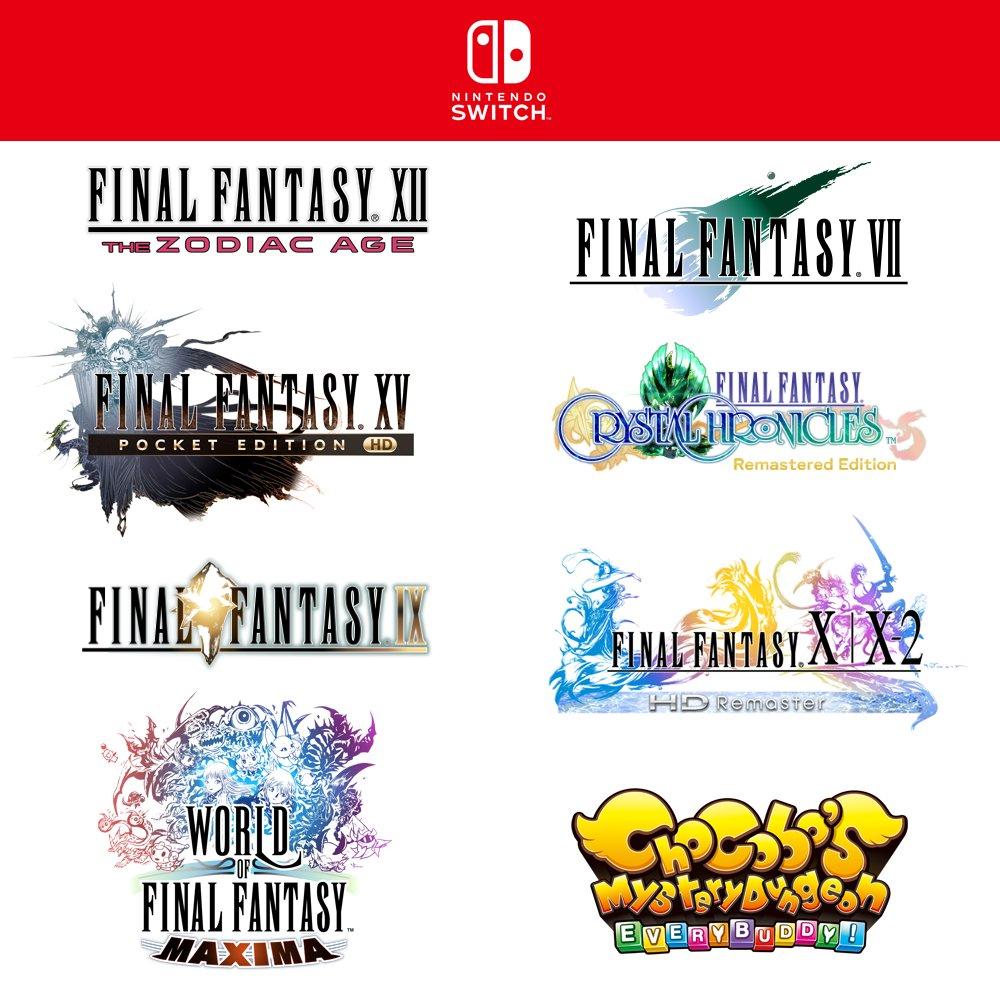 Varios clásicos de Final Fantasy se estrenarán en Switch y Xbox One