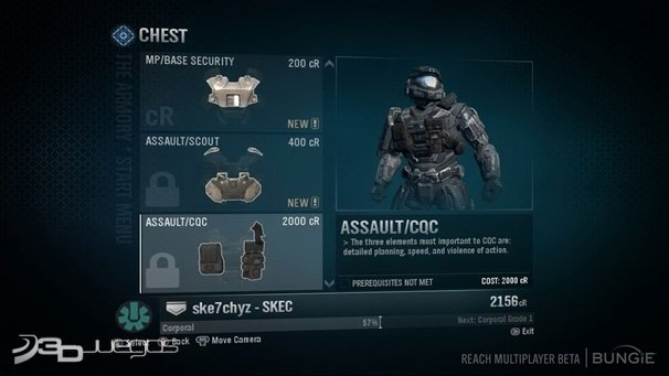 A3 Helmet Level 3 And Pan: Halo Reach: Impresiones Multijugador
