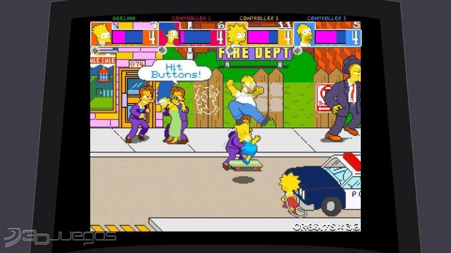 Analisis De Los Simpsons Arcade Para Xbox 360 3djuegos