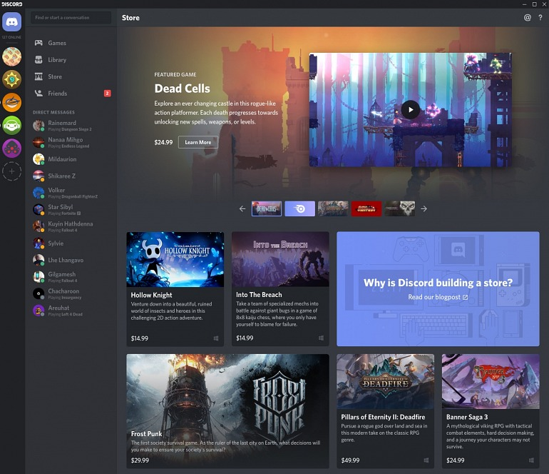 Discord estrenará su propia tienda de juegos