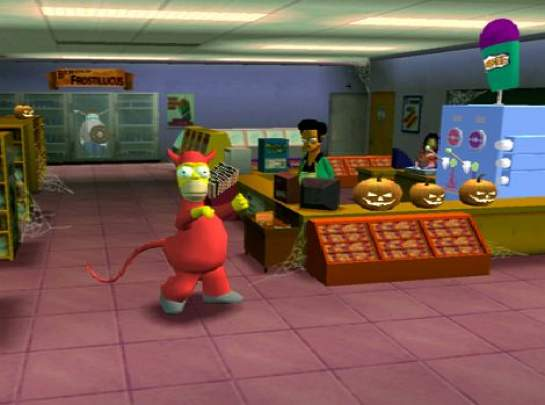 The Simpsons Hit & Run - Pantalla