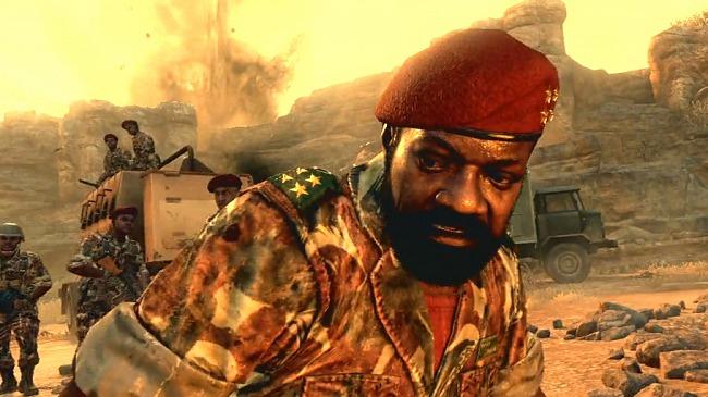 Representación en el videojuego del líder rebelde Jonas Savimbi