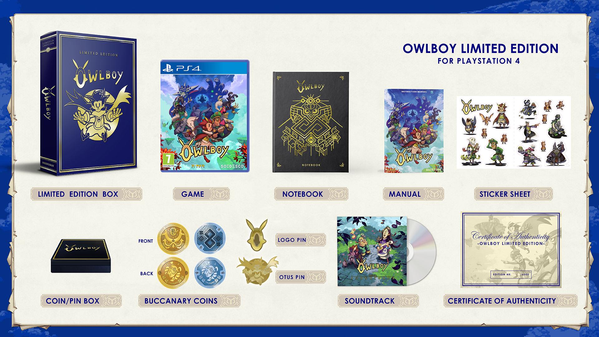 Confirman fecha y contenidos de la edición de coleccionista de Owlboy