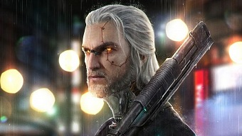 Fanart de The Witcher imagina a Geralt de Rivia en Cyberpunk 2077