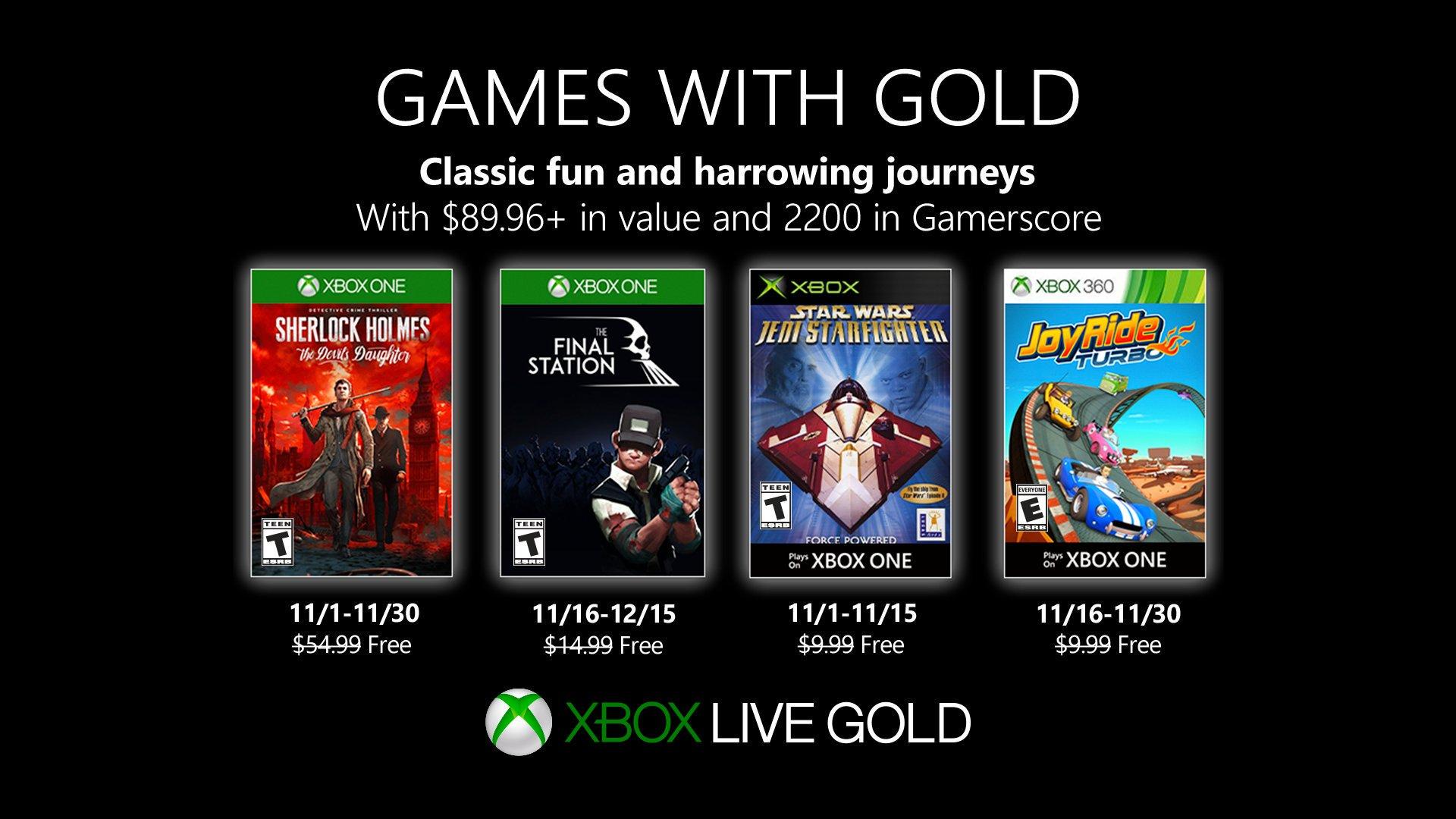 Sherlock Holmes lidera los juegos gratis de noviembre — Xbox Live Gold
