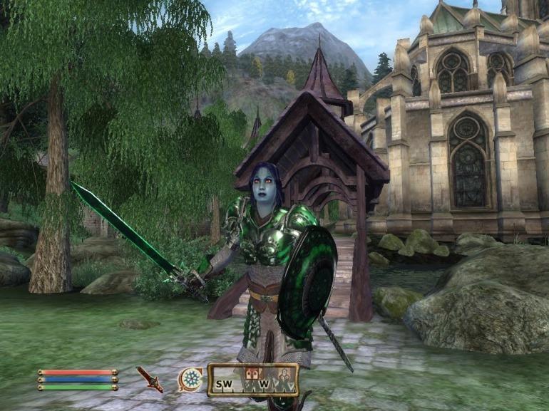 Este bandido ha aparecido en una de las zonas iniciales y está equipado con armaduras que deberíamos encontrar en los últimos estadios del juego.